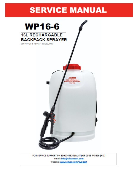 16L RECHARGEABLE BACKPACK SPRAYER (WP16-6)